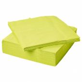 ФАНТАСТИСК Салфетка бумажная, светло-зеленый, 40x40 см