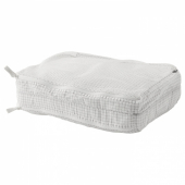 РЕНСАРЕ Сумка для одежды с отделениями, клетчатый орнамент, белый