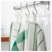 ЭЛЛИ Полотенце кухонное, белый, зеленый, 50x65 см