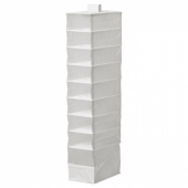 СКУББ Модуль для хранения с 9 отдл, белый, 22x34x120 см