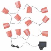 СОЛВИДЕН Гирлянда, 12 светодиодов, для сада на солнечной батарее, тюльпан розовый