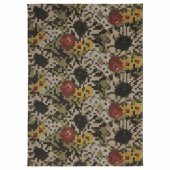 ДЕКОРЕРА Ковер, безворсовый, цветочный орнамент, 160x220 см