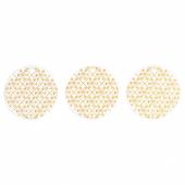ВИНТЕР 2020 Украшение подвесное, белый, орнамент «снежинки» золотой, 7 см