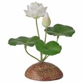 ФЕЙКА Растение искусственное, д/дома/улицы, Водяная лилия белый, 13 см