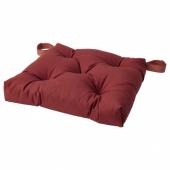 МАЛИНДА Подушка на стул, темный коричнево-красный, 40x38x7.0 см