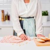 ВОРФИНТ Полотенце кухонное, с рисунком, 45x60 см