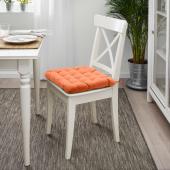 ВИППЭРТ Подушка на стул, оранжевый, 38x38x6.5 см
