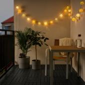 СОЛВИДЕН Гирлянда, 24 светодиода, для сада, шаровидный разноцветный