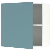 КНОКСХУЛЬТ Навесной шкаф с дверцей, глянцевый, синяя бирюза, 60x60 см
