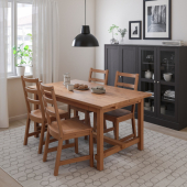 НОРДВИКЕН Раздвижной стол, морилка,антик, 152/223x95 см