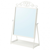 КАРМСУНД Зеркало настольное, белый, 27x43 см