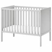 СУНДВИК Кроватка детская, серый, 60x120 см