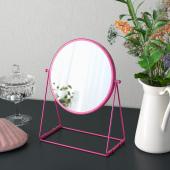 ЛАССБЮН Зеркало настольное, розовый, 17 см
