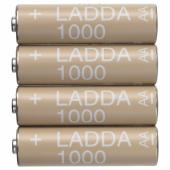 ЛАДДА Аккумуляторная батарейка, HR6 AA 1,2 В