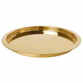 ГЛАТТИС Поднос, желтая медь, 38 см