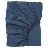 УЛЛЬВИДЕ Простыня натяжная, темно-синий, 140x200 см