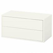 ЭКЕТ Шкаф с 2 ящиками, белый, 70x35x35 см