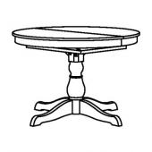 ИНГАТОРП Раздвижной стол, белый, 110/155 см
