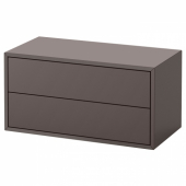 ЭКЕТ Шкаф с 2 ящиками, темно-серый, 70x35x35 см
