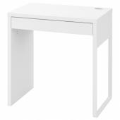 МИККЕ Письменный стол, белый, 73x50 см