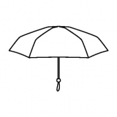 КНЭЛЛА Зонт, складной черный/белый