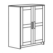БРИМНЭС Шкаф с дверями, черный, 78x95 см