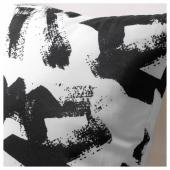 ТУРИЛЛ Подушка, белый/черный, 35x35 см
