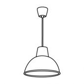 СКУРУП Подвесной светильник, черный, 38 см