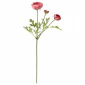 СМИККА Цветок искусственный, лютик, темно-розовый, 52 см