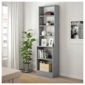 ХАВСТА Стеллаж с цоколем, серый, 61x212x37 см