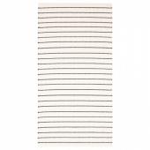 ТЁРСЛЕВ Ковер безворсовый, полоска белый, черный, 80x150 см
