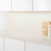 СИББАРП Настенная панель под заказ, белый под камень, ламинат, 1 м²x1.3 см