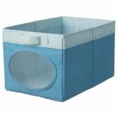 НОЙСЭМ Коробка, синий, 25x37x22 см