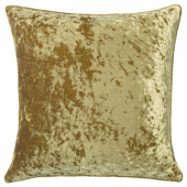 СЕБРИНА Чехол на подушку, бархат золотой, 50x50 см