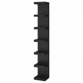 ЛАКК Полочный модуль, навесной, черно-коричневый, 30x190 см