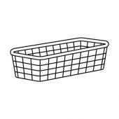 ЙОНАКСЕЛЬ Проволочная корзина, белый, 25x51x15 см