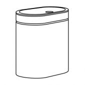 БРОГРУНД Контейнер с крышкой д/мусора, нержавеющ сталь, 4 л