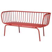 БРУСЕН 3-местный диван,садовый, красный