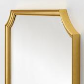 СВАНСЕЛЕ Зеркало, золотой, 78x78 см