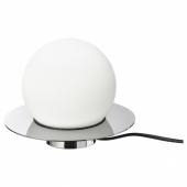 СИМРИСХАМН Настольная лампа/бра, хромированный, молочный стекло, 16 см