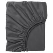 НАТТЭСМИН Простыня натяжная, темно-серый, 140x200 см