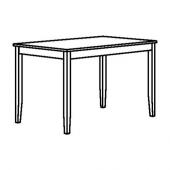 ЛЕРХАМН Стол, светлая морилка антик, белая морилка, 118x74 см
