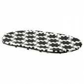 ЛУРВИГ Чехол д/лежанки домашнего питомца, черный, белый, 51x76 см
