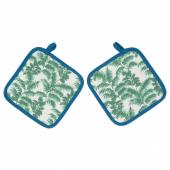СИЛВЕРПОППЕЛ Прихватка, с рисунком, зеленый синий, 23x23 см