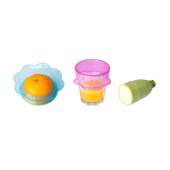 ОВЕРМЭТТ Крышка для продуктов, 3 шт., силикон разноцветный