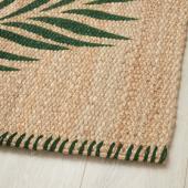 СОММАР 2020 Ковер, безворсовый, зеленый листья, неокрашенный, 80x150 см