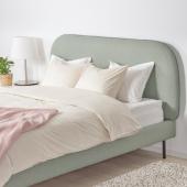 ВАДХЕЙМ Каркас кровати с обивкой, Гуннаред светло-зеленый, 180x200 см