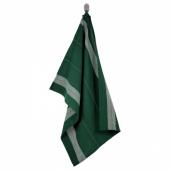 БОТАНИСК Полотенце, темно-зеленый/белый ручная работа, 50x70 см