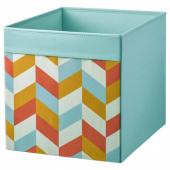 ДРЁНА Коробка, разноцветный, 33x38x33 см