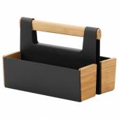АНИЛИНАРЕ Подставка д/канцелярских принадлежн, бамбук, черный, 18x13 см